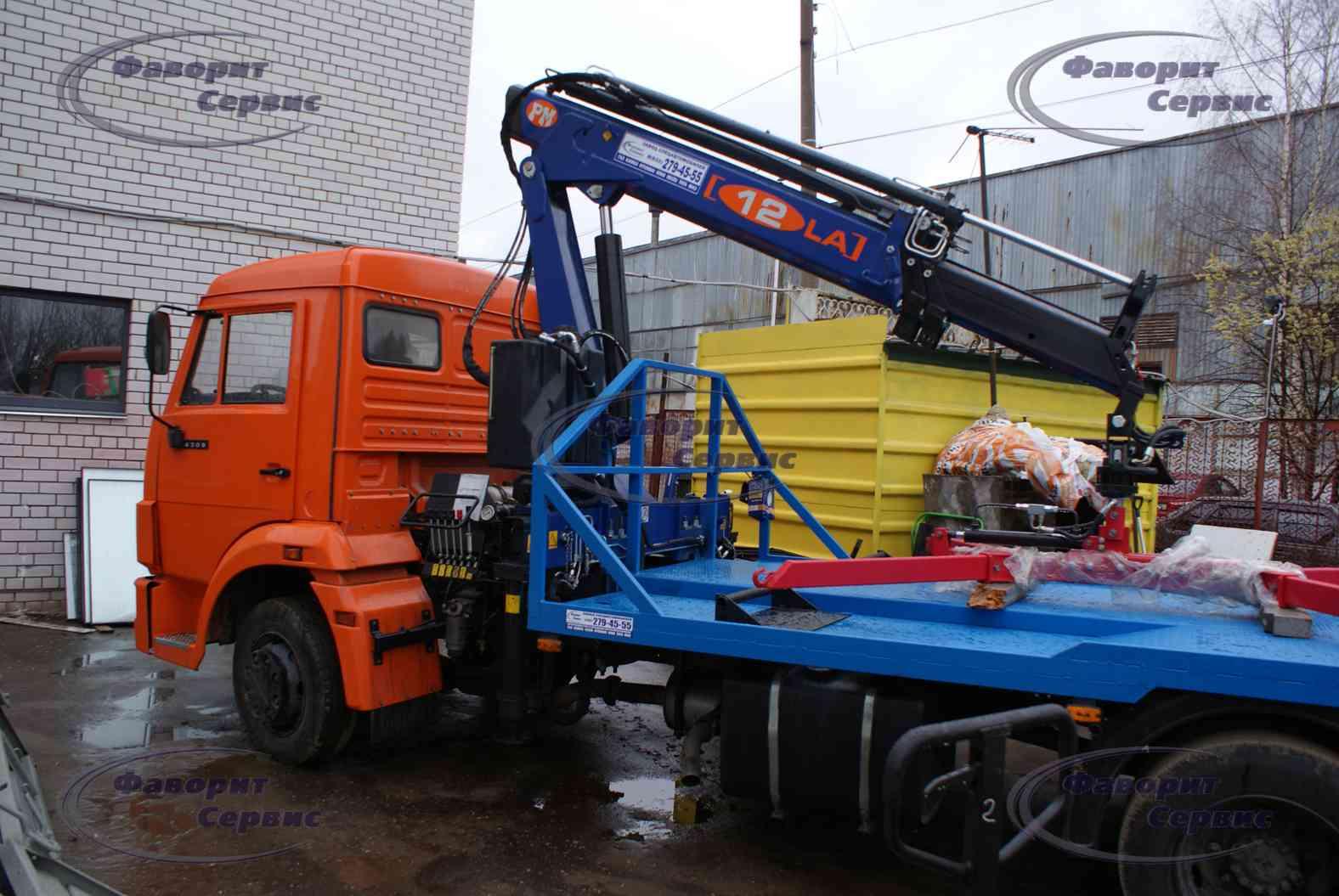 Камаз-4308 (эвакуатор) с манипулятором palfinger pk 13500t b (москва) - предложение
